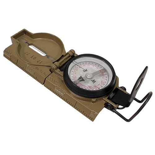 Lensatic Compass, Phosphorescent, Coyote Brown
