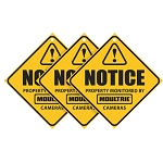 Camera Surveillance Signs, 3 Pack