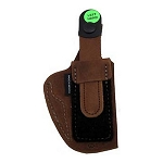 BIANCHI 6D Deluxe Waistband Holster, Colt .380, Natural Suede, Size 08, Left Hand