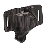 BIANCHI 5 Black Widow Leather Holster, Black, Right Hand, Ruger LCR
