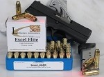 9mm Luger, 147-Grain Remington Golden Saber JHP, Box of 20