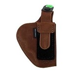 BIANCHI 6D Deluxe Waistband Holster, Ruger SP101, Natural Suede, Size 01, Left Hand