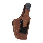 BIANCHI 6D Deluxe Waistband Holster, Glock 19, Natural Suede, Size 11, Right Hand
